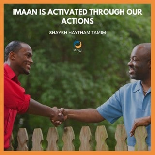 defining and activating imaan