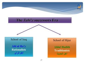 the school of Iraq and the school of Hijaz