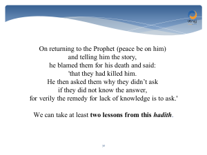 hadith - they killed him