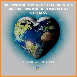 the power of love will defeat the bigots