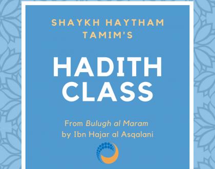 Sunday Hadith Class (fortnightly)