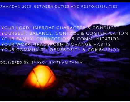 ramadan - a month of mindfulness