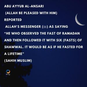 the six fasts of shawwal